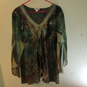 Dress barn lovely flowy blouse